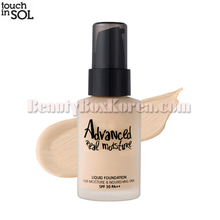 TOUCH IN SOL Advanced Real Moisture Liquid Foundation SPF30 PA++ 30ml