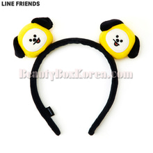 LINE FRIENDS BT21 Face Rag Doll Hair Band 1ea