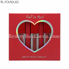 BLACK ROUGE Air Fit Velvet Mini Tint Fall in Red 2g*3ea[Online Excl.]