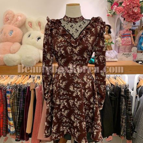 ARIWEAR Wine Flower One Piece 1ea
