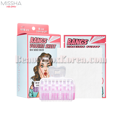 MISSHA Bangs Volume Sheet 1.5*10ea+Hair Roll 1ea+Clip 1ea