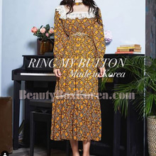 RING MY BUTTON Rosa Chiffon Long One Piece 1ea