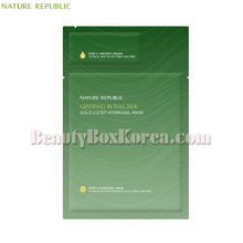NATURE REPUBLIC Ginseng Royal Silk Gold 2 Step Hydrogel Mask 35.5g