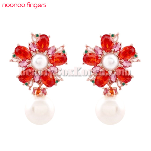 NOONOO FINGERS Plum Tree Blossom Earrings 1ea