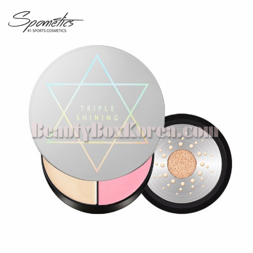 SPOMETICS Triple Shining Metal Cushion 15g,SPOMETICS