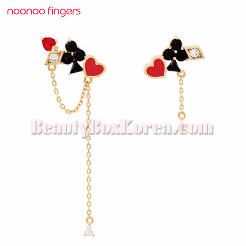 NOONOO FINGERS Card Earrings 1ea