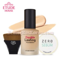 ETUDE HOUSE Double Lasting Foundation SPF42 PA++ Set 3items,Beauty Box Korea