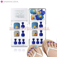 DASHING DIVA Premium Magic Press Pedicure 1Set [Follow Me Collection],DASHING DIVA