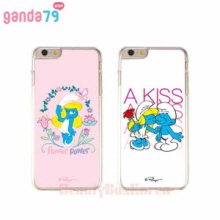 GANDA79 11Items Smurfs Aluminium Clear Phone Case
