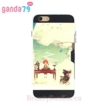 GANDA79 10Items Design Card Pocket Bumper Phone Case