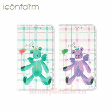 ICONFARM 6Items Angel Bear Book Diary Phone Case