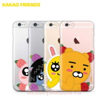 KAKAO FRIENDS 6Kinds Flower Bud Clear Jelly Phone Case,Beauty Box Korea