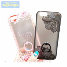 OKICASE 2 Items Flower Ring Phone Case