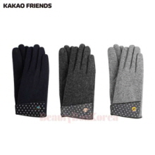 KAKAO FRIENDS Dot Fabric Woolen Gloves 1ea