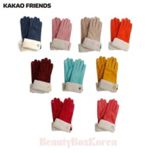 KAKAO FRIENDS Fur Attach Pig Skin Suede Gloves 1ea