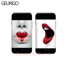 GEURIGO 2Item Lips Bumper Card Phone Case,Beauty Box Korea
