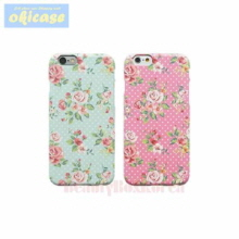 OKICASE 2Items Grahpic Flower Hard Phone Case