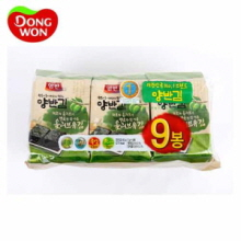 DONGWON Olive Oil Seasoned Laver 9 Packs, 5g x 9, DONGWON