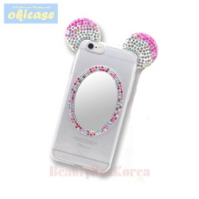 OKICASE 3 Items Cubic Mouse Mirror Jelly Phone Case