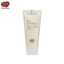 WHAMISA Organic Flowers Foam Cleansing Cream 200ml, WHAMISA