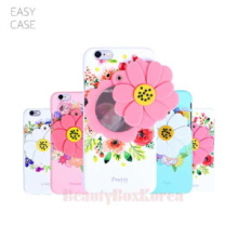 EASYCASE 4Items Flower Mirror Hard Phone Case