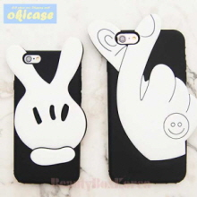 OKICASE 2Items Mickey Finger Phone Case