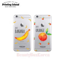 PRINTING ISLAND 4Items Fruit Clear Phone Case