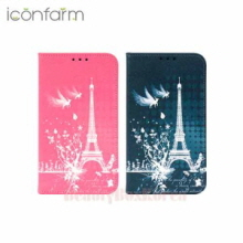 ICONFARM 6Items Eiffel Fantasy Book Diary Phone Case