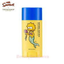 THE FACE SHOP Natural Sun Eco Clear Sunscreen Stick SPF50 PA+++ 13.5g [The Simpsons]