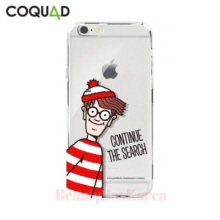 COQUAD Where's Wally Clear Phone Case Continue the Search,Beauty Box Korea
