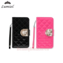 LUMIEL 4Items Rose Dia Qualiting Diary Phone Case