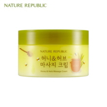 NATURE REPUBLIC Honey&Herb Massage Cream 215ml, NATURE REPUBLIC