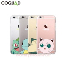 COQUAD 6Items Pokemon Cutie Clear Phone Case