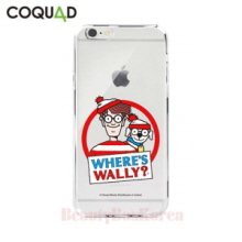 COQUAD Where's Wally Clear Phone Case Wally&Woof,Beauty Box Korea