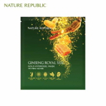 NATURE REPUBLIC Ginseng Royal Silk Gold Hydrogel Mask 32g x 10ea, NATURE REPUBLIC