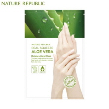 NATURE REPUBLIC Real Squeeze Aloe Vera Moisture Hand Mask 14ml, NATURE REPUBLIC