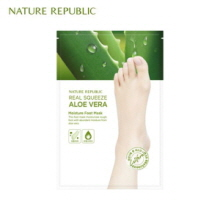 NATURE REPUBLIC Real Squeeze Aloe Vera Moisture Foot Mask 16ml, NATURE REPUBLIC