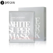 BAD SKIN Tone Brightning White Super Mask 25ml*5ea