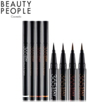 BEAUTY PEOPLE 365 Stay Waterproof Brush Pen Eyeliner 0.5g, Beauty People