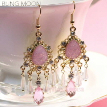 BLING MOON Glossy Chandelier Earring 1pair