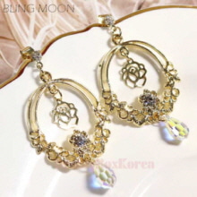 BLING MOON Vela Rose Earring 1pair
