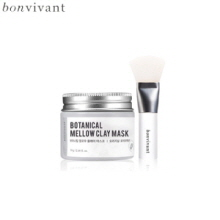 BONVIVANT Botanical Mellow Clay Mask 70g + Silicone Pack Brush 1ea, Own label brand
