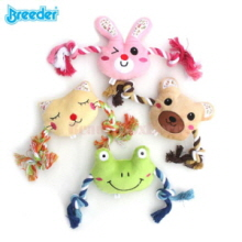 BREEDER Knot Rope with Character Doll Dog Toy 1ea
