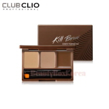CLIO Kill Brow Conte Powder Kit (AD) Pressed Powder 2g *2+Fixing wax 1g