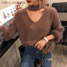 DABAGIRL Loose Fit Choker Knit Top 1ea