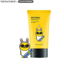 THE FACE SHOP X KAKAO FRIENDS Natural Sun Eco No Shine Hydrating Sun Cream SPF40 PA++ 50ml, THE FACE SHOP