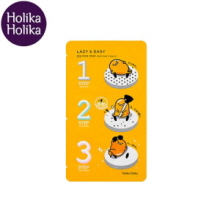 HOLIKAHOLIKA LAZY&EASY Pig Nose Clear Black Head 3 step Kit (Gudetama Edition) 1pcs, HOLIKAHOLIKA