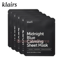 KLAIRS Midnight Blue Calming Sheet Mask 25ml*5ea,KLAIRS
