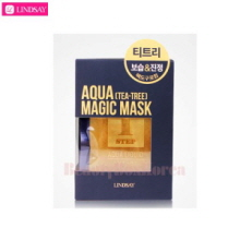 LINDSAY Aqua Luxury Magic Mask Set (15g*5ea + 65g*5ea + Mixing bowl 1ea + Spatula 1ea)