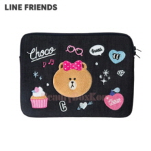 "LINE FRIENDS Isko Denim Choco Notebook Pouch (Laptop Sleeve) 13"" 1ea"